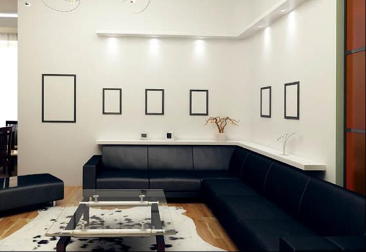 Школа ремонта  интерьеров гостиной